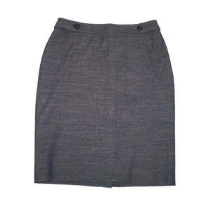 NWT Ann Taylor LOFT 6 Ponte Knit Skirt Chambray